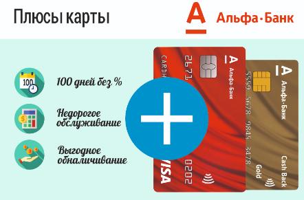 кредитная карта альфа банка 100 дней без процентов оформить