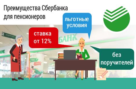 кредит для пенсионера в сбербанке условия в 2020 году процентная